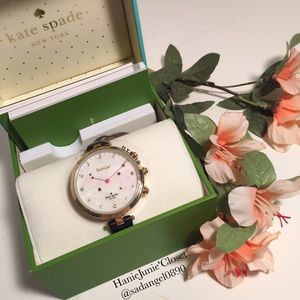KATE SPADE HYBRID STAR LEATHER WATCH